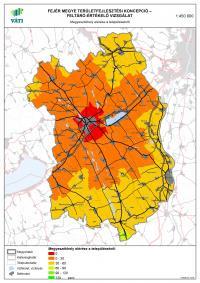 Megyeszékhely elérése a településekről - Fejér megye