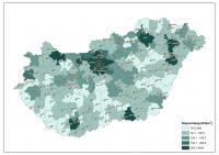 A járások népsűrűsége