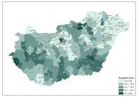 A járások öregedési indexe