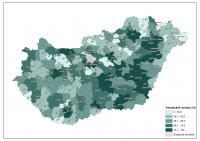 Városlakók aránya a járásokban