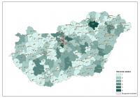 Városok száma a járásokban