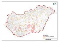 Vassal szennyeződött ivóvíz előfordulása Magyarországon (2011)
