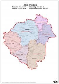 Zala megye járásai