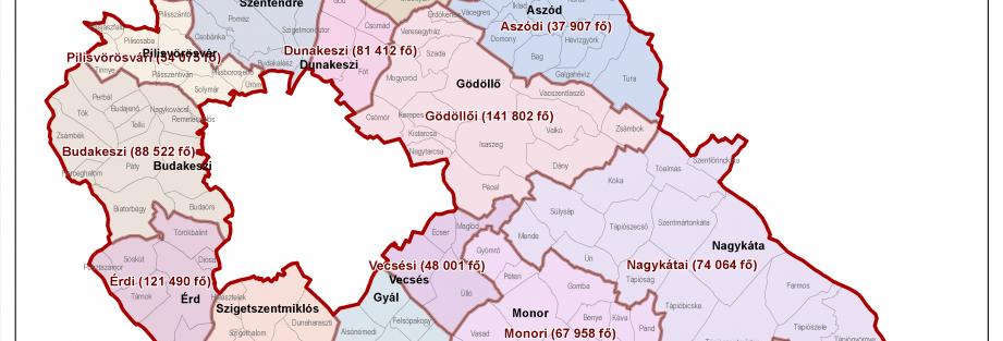 Pest megye járásai