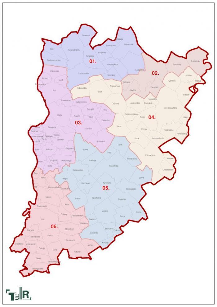 bács kiskun megye térkép Bács Kiskun megye, egyéni választókerületek (2011.12.30.) | Térport bács kiskun megye térkép