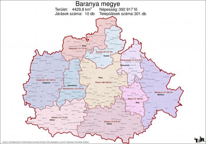 Baranya megye járásai