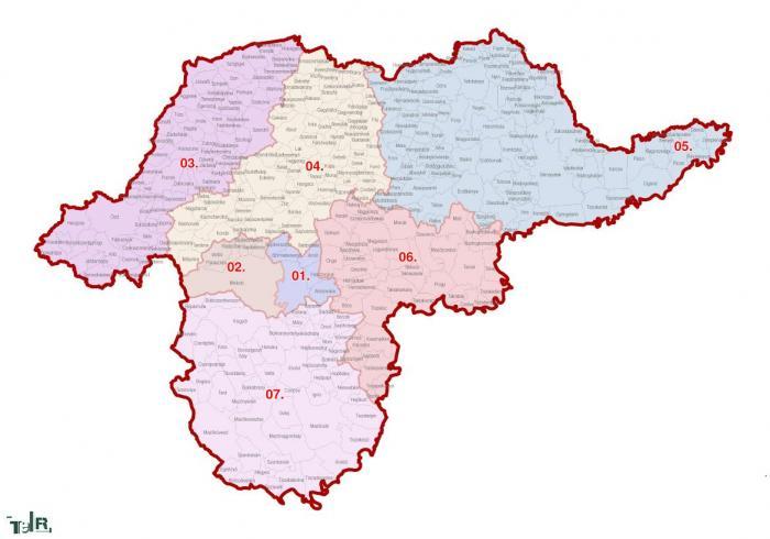 borsod megye térkép Borsod Abaúj Zemplén megye, egyéni választókerületek (2011.12.30  borsod megye térkép