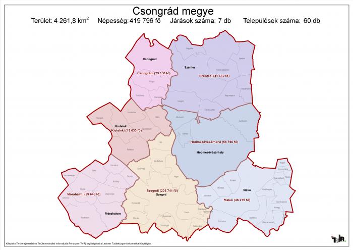 Csongrád megye járásai