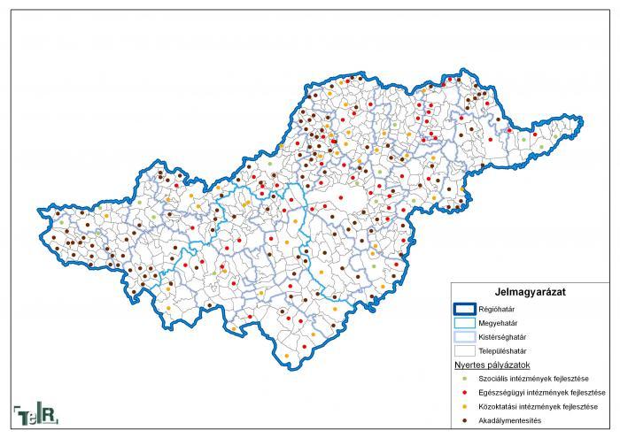 észak magyarország térkép Humán infrastruktúra fejlesztés keretében meghirdetett pályázati  észak magyarország térkép