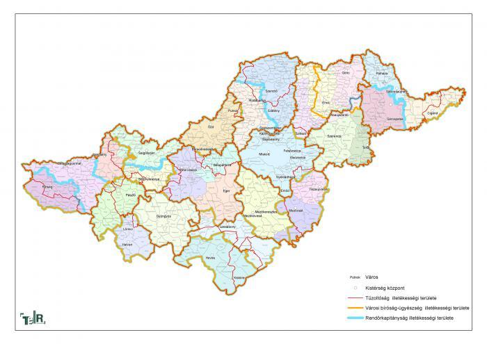észak magyarország térkép Illetékességi területek (tűzoltóság, városi bíróság ügyészség  észak magyarország térkép