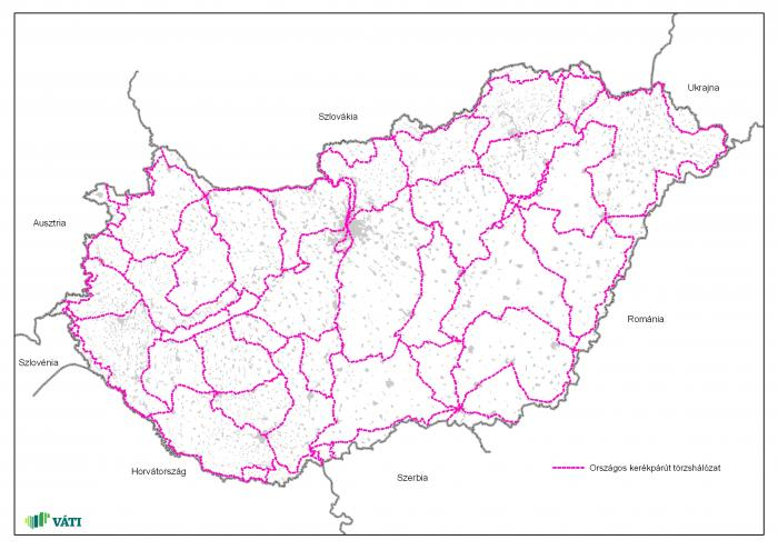 magyarország kerékpárút hálózat térkép Az OTrT országos kerékpárút törzshálózata | Térport magyarország kerékpárút hálózat térkép