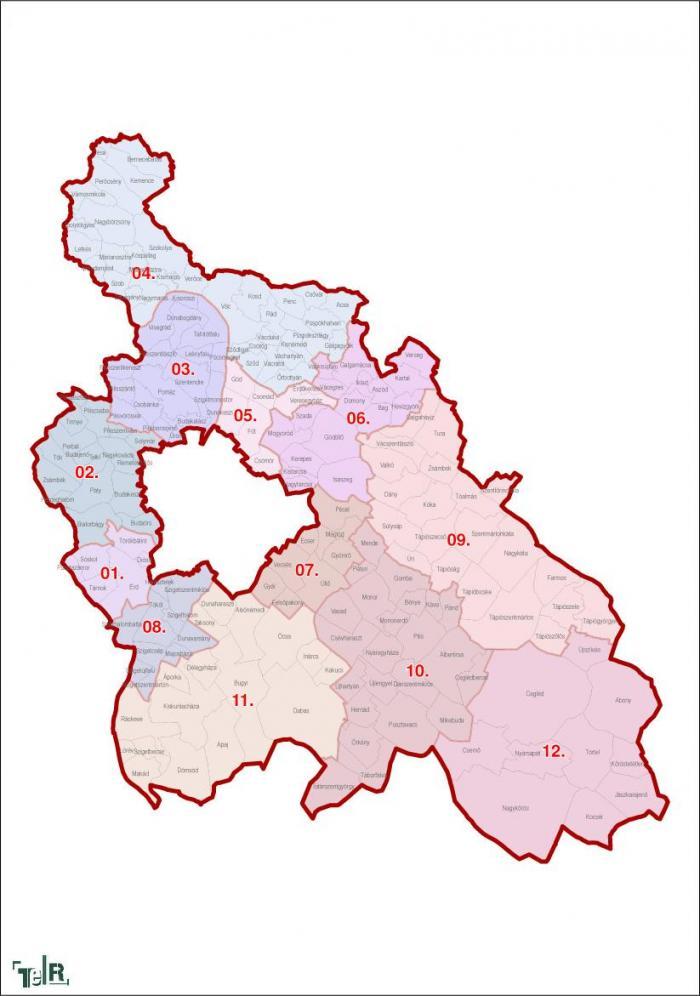 Pest Megye Egyeni Valasztokeruletek 2011 12 30 Terport