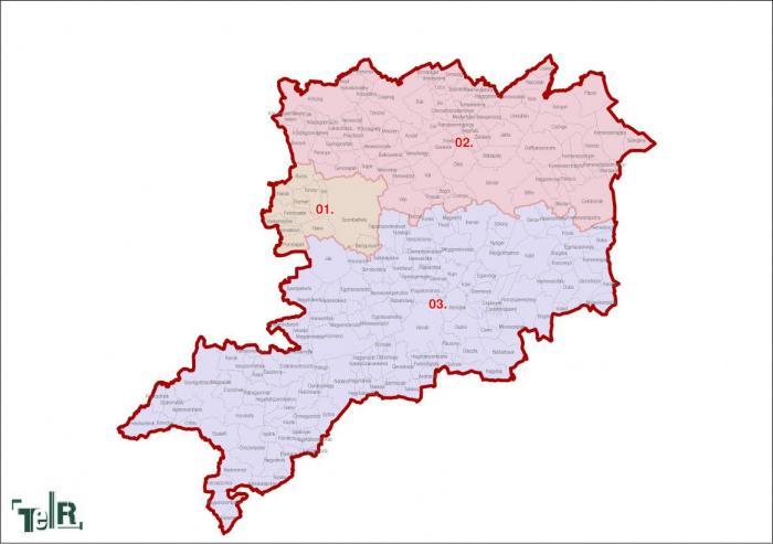 Vas megye, egyéni választókerületek (2011.12.30.)